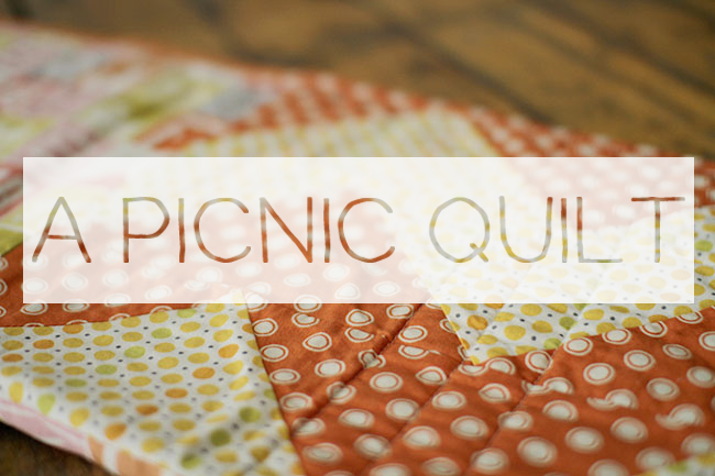 Thumbnail image for a picnic quilt // tutorial!