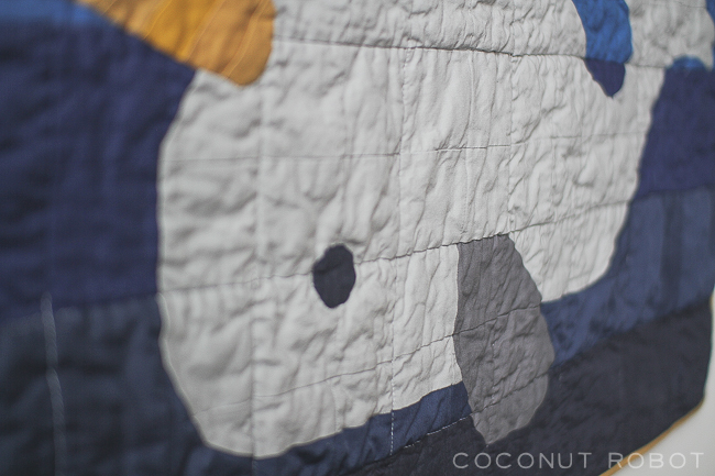 Gus the narwhal || Coconut Robot quilt