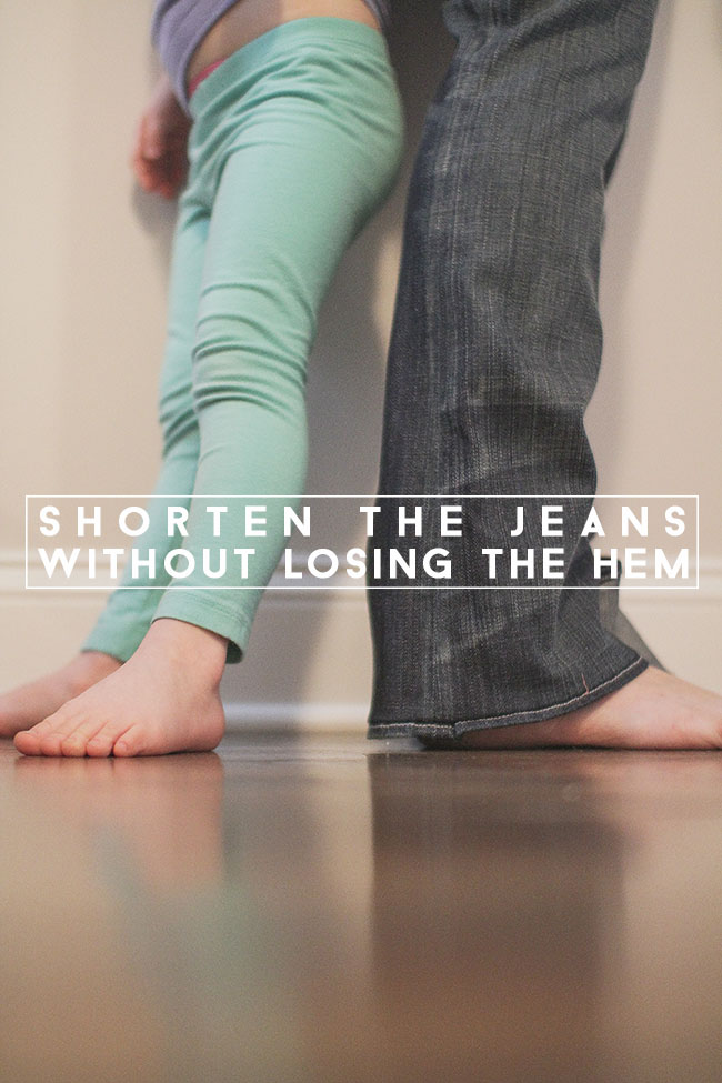 Thumbnail image for shorten the jeans but don't lose the hem