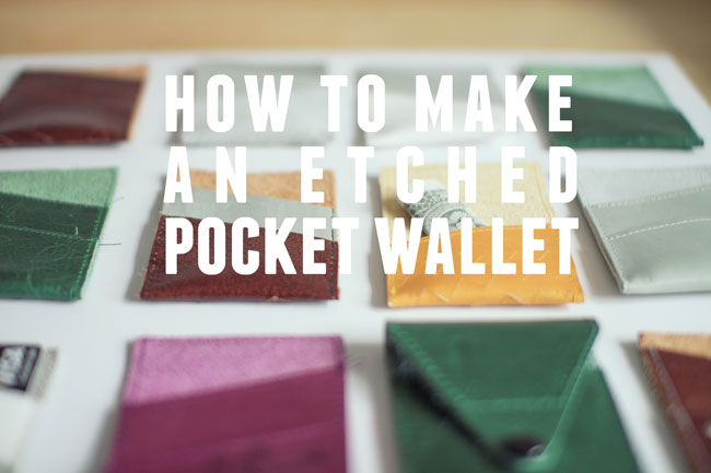 Thumbnail image for how to make an etched leather pocket wallet