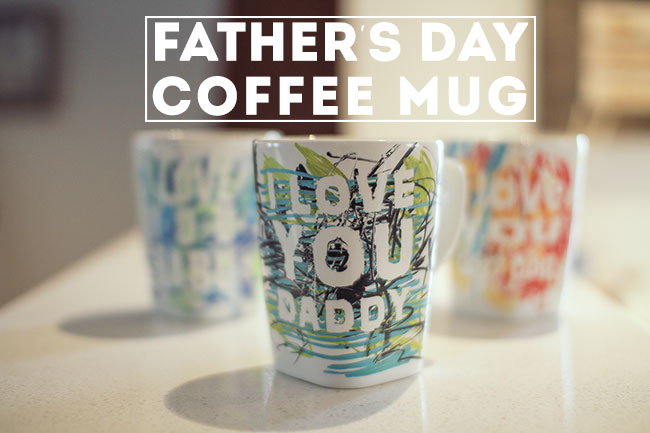 Thumbnail image for Father's Day coffee mug || perfect last minute kid craft!