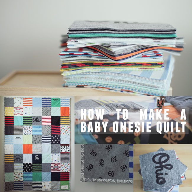 Thumbnail image for how to make a baby onesie quilt