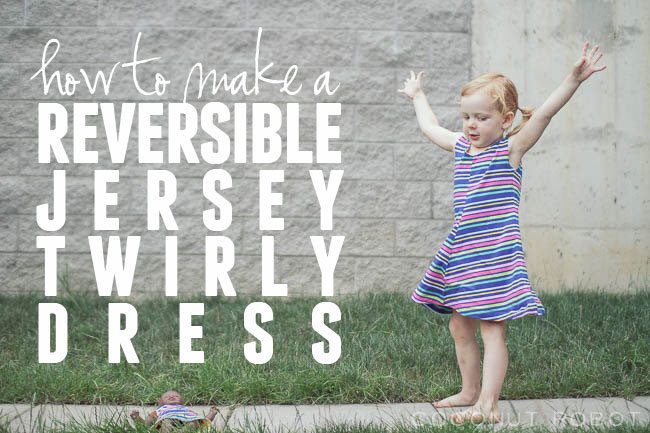 Thumbnail image for Gleeful fabrics // DIY reversible spin and twirl dress!