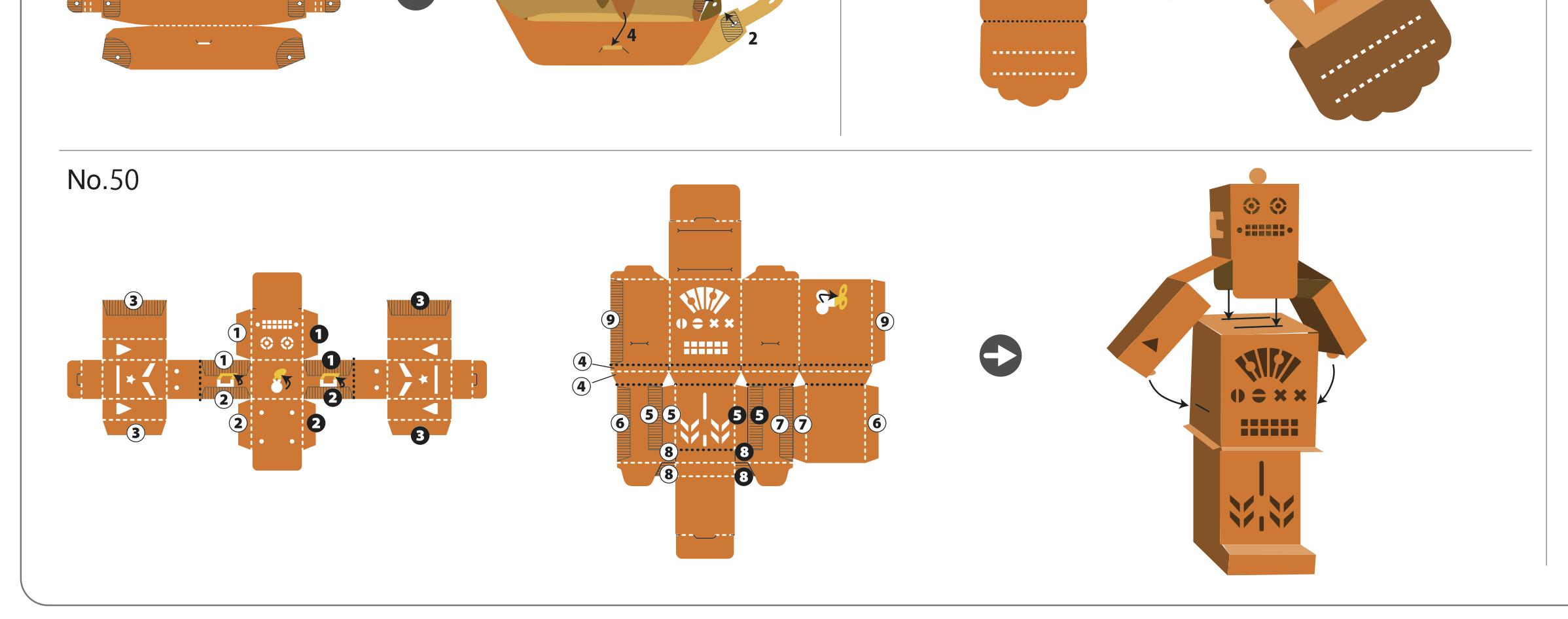 Как сделать робота из бумаги: схема скачать 61