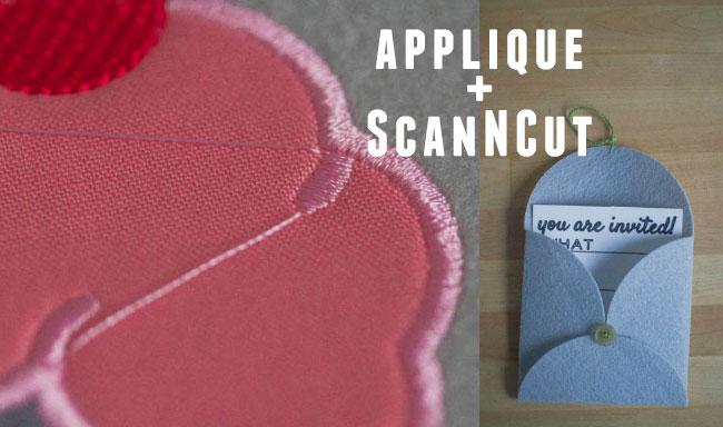 applique and the ScanNCut    Part 2