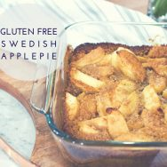 gluten free Swedish Apple Pie